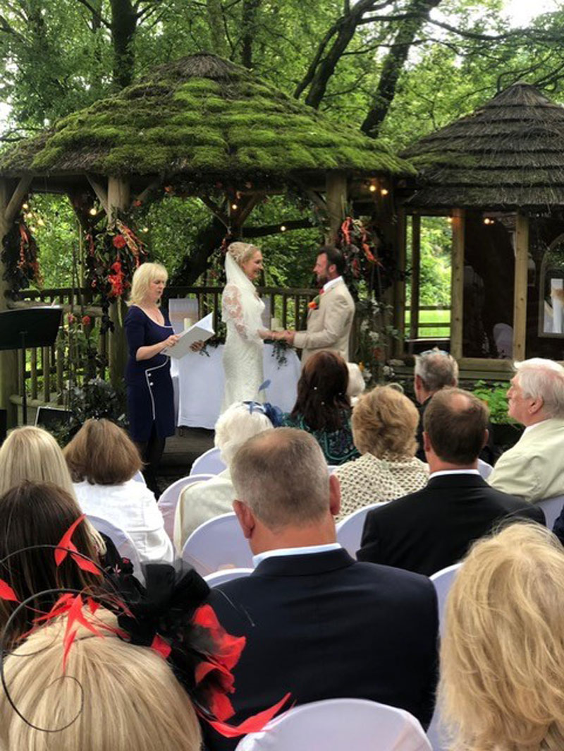 Wedding - Frankie and Jo. Service conducted by Ruth Graham Independent Celebrant.