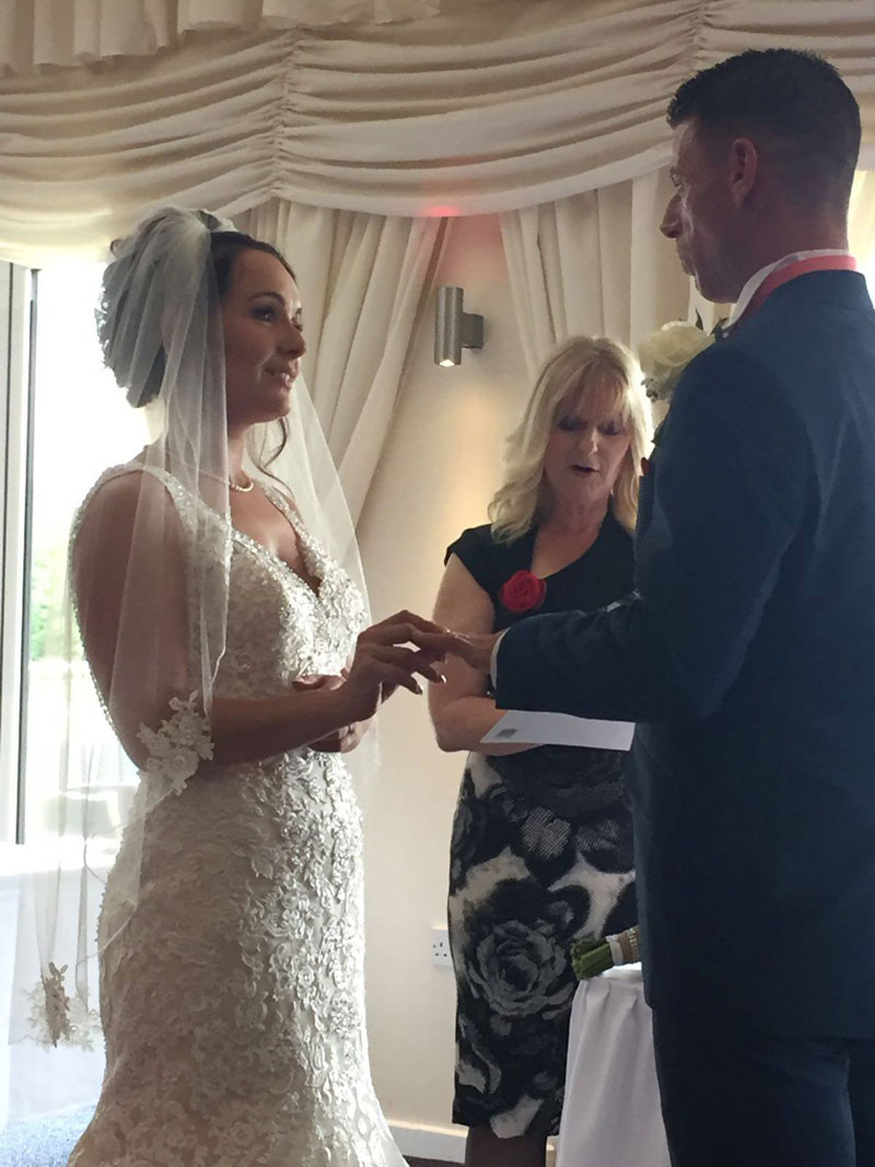 Wedding - Becky and Jay. Service conducted by Ruth Graham Independent Celebrant.